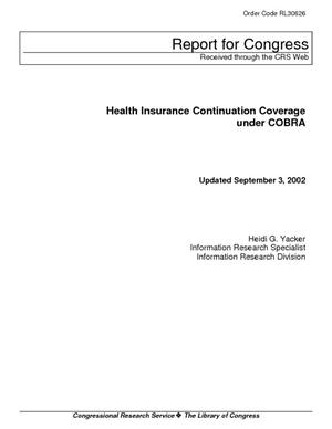 Health Insurance Continuation Coverage under COBRA