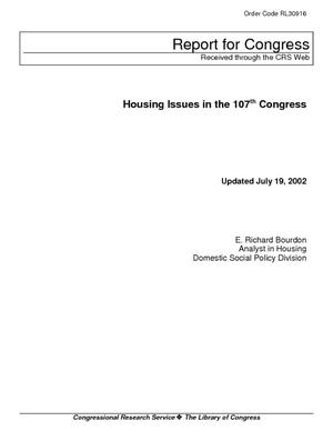 Housing Issues in the 107th Congress