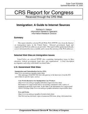 Immigration: A Guide to Internet Sources