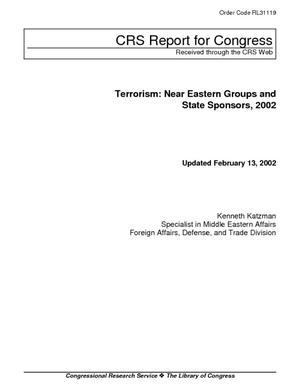 Terrorism: Near Eastern Groups and State Sponsors, 2002