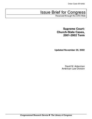 Supreme Court: Church-State Cases, 2001-2002 Term