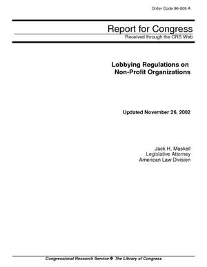 Lobbying Regulations on Non-Profit Organizations