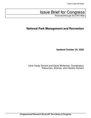 National Park Management and Recreation