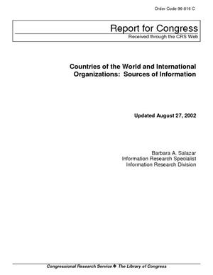 Countries of the World and International Organizations: Sources of Information
