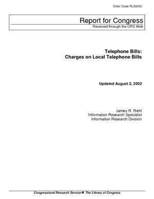 Telephone Bills: Charges on Local Telephone Bills