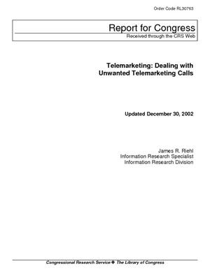Telemarketing: Dealing With Unwanted Telemarketing Calls