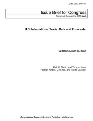 U.S. International Trade: Data and Forecasts
