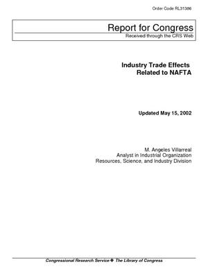 Industry Trade Effects Related to NAFTA