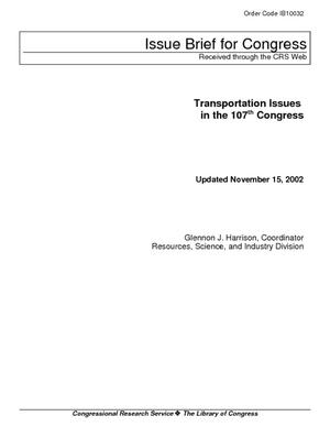 Transportation Issues in the 107th Congress