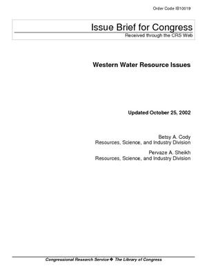 Western Water Resource Issues