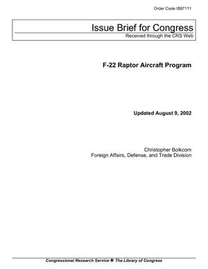 F-22 Raptor Aircraft Program