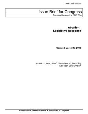 Abortion: Legislative Response