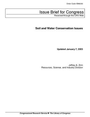 Soil and Water Conservation Issues