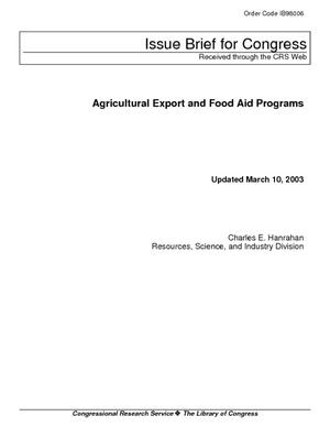 Agricultural Export and Food Aid Programs