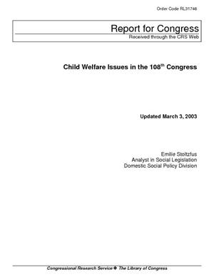 Child Welfare Issues in the 108th Congress
