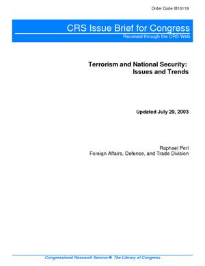 Primary view of Terrorism and National Security: Issues and Trends