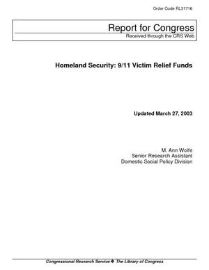 Homeland Security: 9/11 Victim Relief Funds