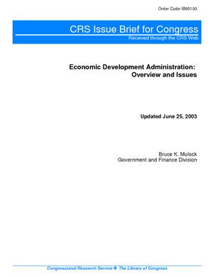 Economic Development Administration: Overview and Issues