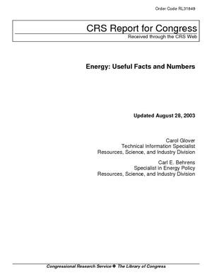 Energy: Useful Facts and Numbers