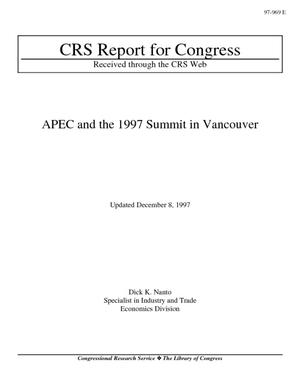 APEC and the 1997 Summit in Vancouver