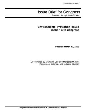 Environmental Protection Issues in the 107th Congress