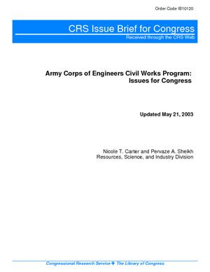 Army Corps of Engineers Civil Works Program: Issues for Congress