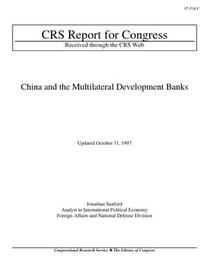 China and the Multilateral Development Banks