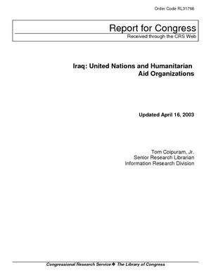 Iraq: United Nations and Humanitarian Aid Organizations