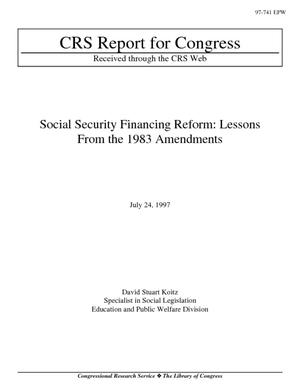 Social Security Financing Reform: Lessons from the 1983 Amendments
