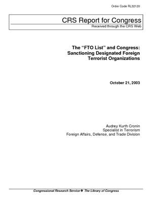"The ""FTO List"" and Congress: Sanctioning Designated Foreign Terrorist Organizations"