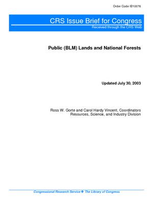 Public (BLM) Lands and National Forests