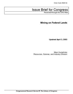 Mining on Federal Lands