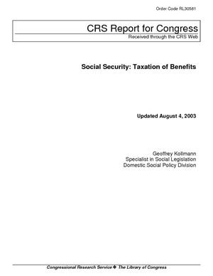 Social Security: Taxation of Benefits