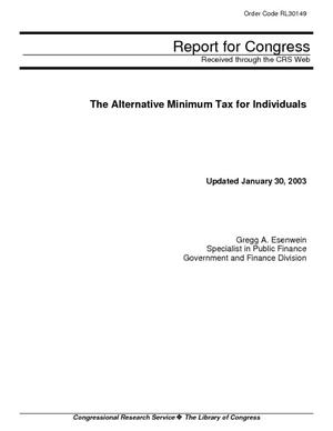The Alternative Minimum Tax for Individuals