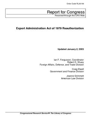Export Administration Act of 1979 Reauthorization