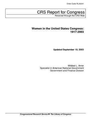 Women in the United States Congress: 1917-2003