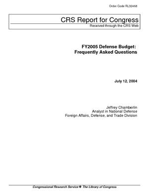 FY2005 Defense Budget: Frequently Asked Questions