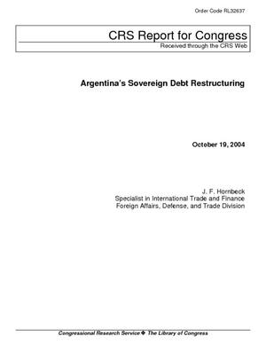Argentina's Sovereign Debt Restructuring