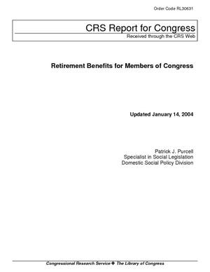 Retirement Benefits for Members of Congress