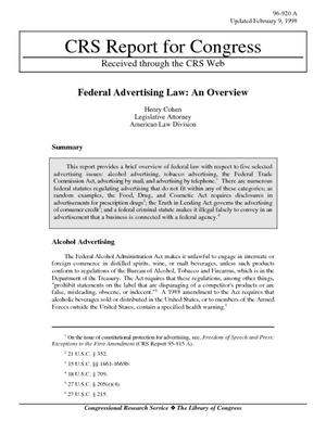 Federal Advertising Law: An Overview
