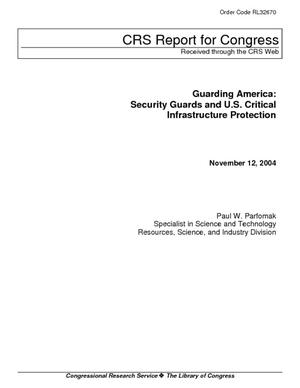 Guarding America: Security Guards and U.S. Critical Infrastructure Protection