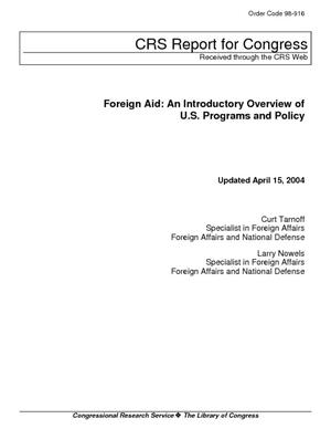 Foreign Aid: An Introductory Overview of U.S. Programs and Policy
