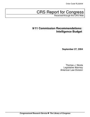 9/11 Commission Recommendations: Intelligence Budget
