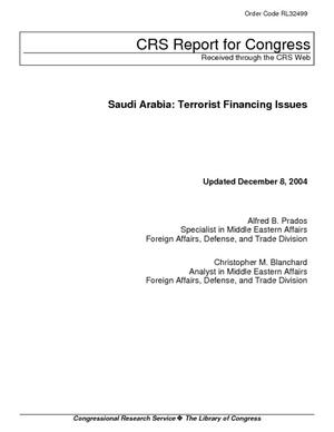 Saudi Arabia: Terrorist Financing Issues
