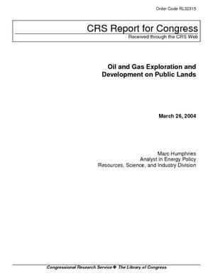 Oil and Gas Exploration and Development on Public Lands