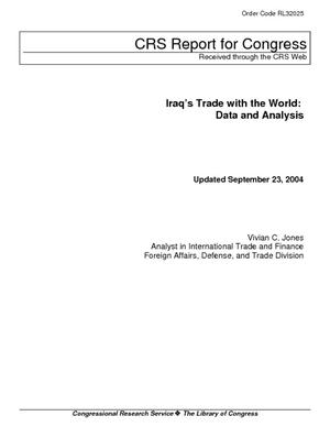 Iraq's Trade with the World: Data and Analysis