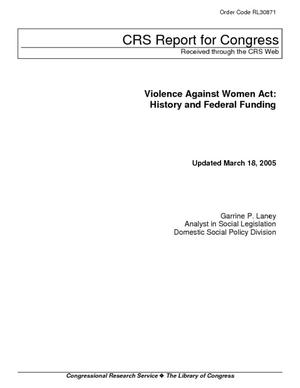 Violence Against Women Act: History and Federal Funding