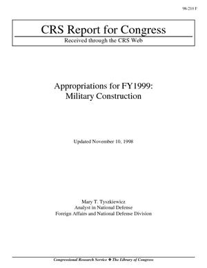 Appropriations for FY1999: Military Construction
