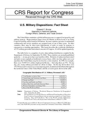 U.S. Military Dispositions: Fact Sheet