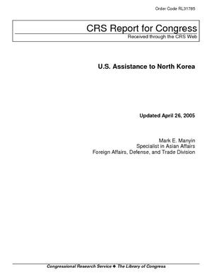 U.S. Assistance to North Korea